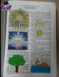 """Jan 11, 2016 I have taught BIBLE ART Seminars for over 30 years but this is the first time I have taught BIBLE ART as an ongoing Bible Study. As many times as I have taught this study it just occurred to me last week that in verse 3 when God said """"Let there be light and there was light,"""" that the sun had not been created. That is incredible! Verse 5 """"God called the light DAY and the darkness He called night."""" So before the sun was created LIGHT. That is incredible! WOW"""