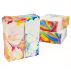 Cut & Cured Rainbow Swirl Soap!