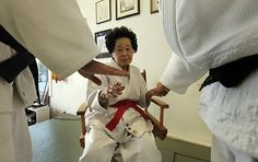"""""""Last week, Sensei Keiko Fukuda of San Francisco became the first woman to be promoted to judo's highest level: 10th degree black belt. Only three people in the world, all men living in Japan, have ever reached that mark."""" Fukuda is 98 years old."""
