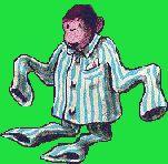 Gif małpa w piżamie Małpy Zwierzęta