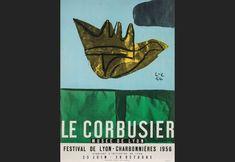 Le Corbusier | The artist | Original artist's poster Festival de Lyon- Charbonnières Lithography 1956