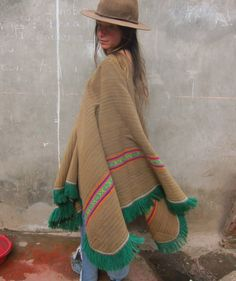 The Mountain Fairy Vintage Alpaca Peruvian Poncho by LivingAltar, $425.00