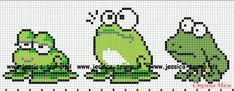 Cross Stitch Bird, Cross Stitch Animals, Cross Stitch Charts, Cross Stitching, Cross Stitch Embroidery, Cross Stitch Patterns, Tapestry Crochet Patterns, Quilt Patterns, Sapo Frog