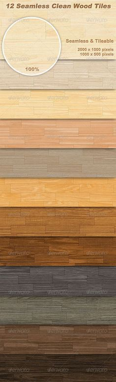 12 Seamless Clean Wood Tiles #GraphicRiver