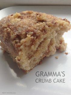 Gramma's Crumb Cake - a must make cake that uses ingredients on hand #coffeecake via New Nostalgia