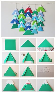DIY Avent Calendar Little Mountains -