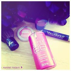 FAVE everyday beauty items!! =) <3  Skin79 BB Cream, Loreal Voluminious Carbon Black Mascara, Kevyn Aucoin, Maybelling Bouncy Blush..