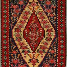 Sena Kurdish Hand Knotted Killim Size: M x M Knots, Bohemian Rug, Home Decor, Decoration Home, Room Decor, Knot, Interior Design, Home Interiors, Interior Decorating