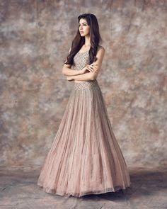 Sarah - Festive collection by mrunalinirao . Beautiful gray color lehenga and blouse with hand embroidery work. 30 August 2018