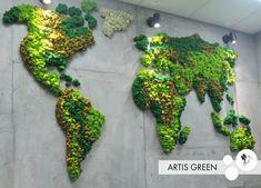 World - Jardin Vertical Fachada Moss Wall Art, Moss Art, Plant Wall, Plant Decor, Art Mural Vert, Moss Decor, Vertical Garden Wall, Decoration Plante, Green Wall Art