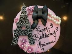 Paris Themed Birthday Cake #2