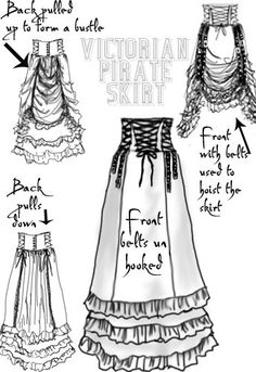 Victorian Pirate Skirt By Amber Middaugh