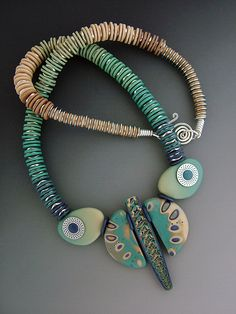 WingedTurquoise by julie_picarello, polymer clay