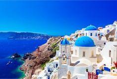 Santorini, Ägäsis, weiße Häuser