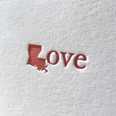 louisiana love card $4.50