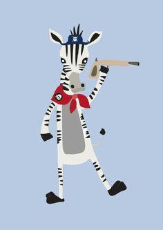 Crazy Zebra Poster A4 from vanMariel ● Buy it at Troetel.com