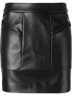 BARBARA BUI Leather Mini Skirt. #barbarabui #cloth #skirt