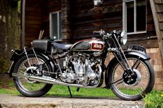 """combustible-contraptions: """" 1950 Vincent Motorcycle 