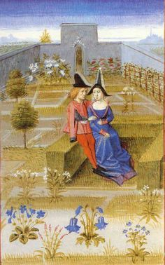 Medieval Women In The Garden On Turf Benches Medieval World, Medieval Art, Renaissance Art, Medieval Manuscript, Illuminated Manuscript, Fine Art Prints, Canvas Prints, Framed Prints, Espalier