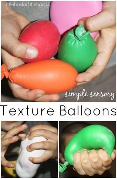 make these quick and simple texture balloons for sensory processing play! Texture balloons are a great way to introduce new textures to kids!