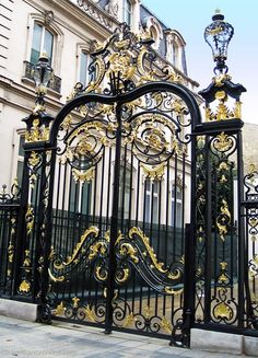entrys gates and doors images   Entrance #gates of the Hôtel Dassault on the ...   doors & gates
