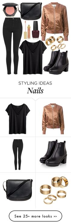 """""""Untitled #543"""" by daimy-style on Polyvore featuring Topshop, H&M, Acne Studios, Mansur Gavriel, Apt. 9, AERIN and OPI"""