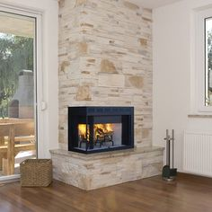 Superior WCT40CR/L Wood Burning Corner Fireplace | WoodlandDirect.com: Indoor Fireplaces: Gas, Superior Products #LearnShopEnjoy