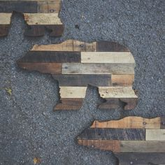 This bear was hand cut from reclaimed wood. Each piece will look different depending on the grain of the wood and the way the wood takes the stain. So every piece is unique! Dimensions: 12 x 20 inches Hardware: Sawtooth hanger on back *If you live in the Nashville area and would like to pick up your item locally, message me to find out how to get free shipping! **Please allow 2-3 weeks for me to make the item and package it for delivery. Follow me on Instagram @crtcreative for special sal...