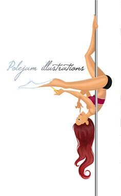 Illustrations - Polejam Illustrations Pole dancing illustrations, cartoons, portaits. Also burlesque, silks and hoop