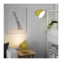 IKEA - IKEA PS 2017, Table lamp with LED bulb, You can create a ambiance of cozy light by pointing the lamp against a wall, painting or something you care for a lot.Table lamp or wall lamp – you can decide since the lamp can also be mounted on the wall.
