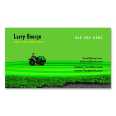 Landscaping or Lawn Care Service Company Business Card | Lawn care ...
