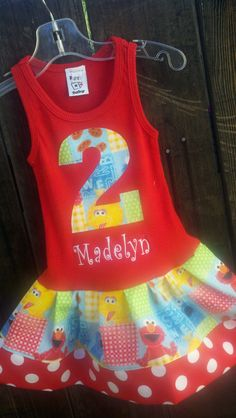 Sesame Street Dress Avail 3mo through 7/8 Boys by rocknbaby, $22.95