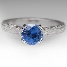 Scott Kay Light Blue Sapphire Engagement Ring in Platinum