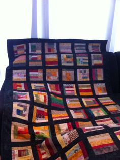 Scrappy quilt Quilts, Blanket, Bed, Stream Bed, Quilt Sets, Blankets, Log Cabin Quilts, Beds, Cover