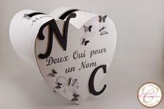 Urne de mariage coeur sur le thème des papillons | L'atelier de Claraméline