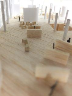 小学校設計課題の模型写真から。