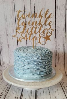 Twinkle twinkle little star smash cake. https://m.facebook.com/BakedBlissCrosby/