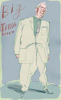#ReganDunnick #illustration of Big Thumb Billy. #portrait #humorous #caricature #lindgrensmith