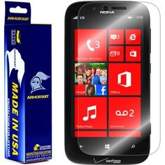 ArmorSuit MilitaryShield Nokia Lumia 822 Screen Protector Anti-Bubble HD Shield w/ Lifetime Replacements -- Want additional info? Click on the image. (This is an affiliate link) #ScreenProtectors