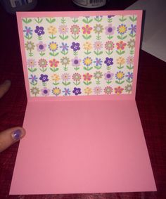 Inside of the baby shower card.. Planning to scribe a poem about sprouting a new child