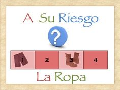 Interactive Spanish Powerpoint Activity with Clothing Vocabulary