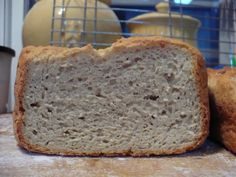 Just put this recipe in the bread machine. Substituted flour with 2 c. all-purpose gluten-free flour and 1/2 cup gluten-free self-rising flour. Skipped the Xanthum gum since it's in each flour mix. We'll see how it turns out. Kinda strange to not have any milk or butter...