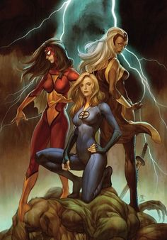 Spider-Woman, Storm & Invisible Woman