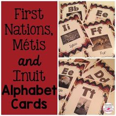 Beautiful Alphabet Cards for Teaching Upper Elementary (grades about First Nations, Metis and Inuit Culture, Alberta, Canada Aboriginal Education, Indigenous Education, Indigenous Knowledge, Indigenous Art, Canadian Social Studies, Teaching Social Studies, Teaching Abcs, Canada For Kids, Inclusion Classroom