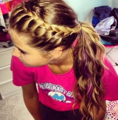 Sporty hairstyle!