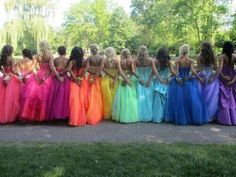 See more about rainbow bridesmaid dresses, rainbow bridesmaids and bridesmaid dresses. Prom Pictures Couples, Homecoming Pictures, Prom Couples, Prom Photos, Prom Pics, Homecoming Ideas, Teen Couples, Muslim Couples, Maternity Pictures