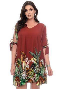 Macacão Plus Size Samyka Plus Size Short Dresses, Simple Dresses, Plus Size Outfits, Casual Dresses, Plus Size Womens Clothing, Size Clothing, Plus Size Fashion, Clothes For Women, Looks Plus Size