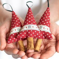 Snowflake Cinnamon Christmas Tree Decorations Set of 3 £14.00