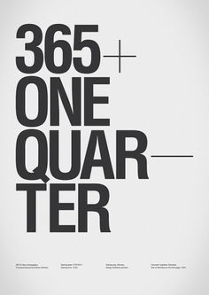 365+One Quarter // Type Journal on Typography Served in Typography