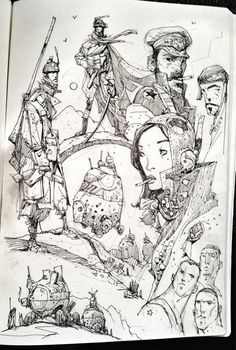 Sketchbook: Explorers.